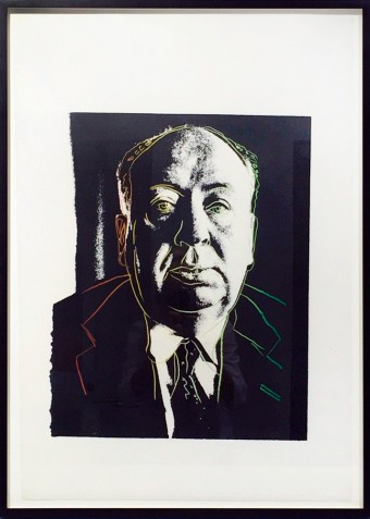 Alfred Hitchcock by Andy Warhol
