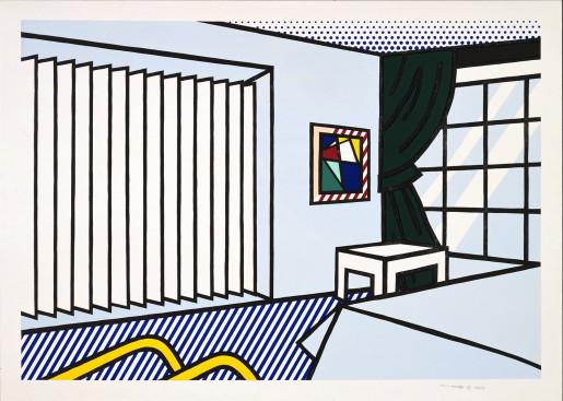 Roy Lichtenstein, Bedroom from 'Interior Series', 1991