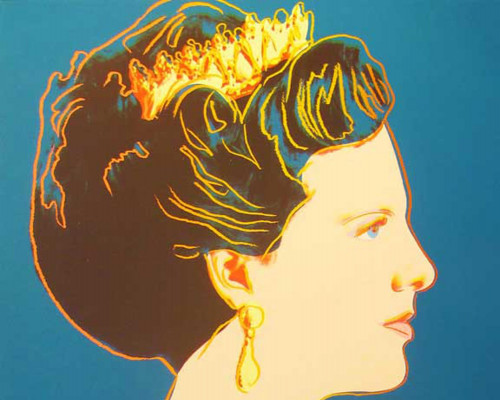 "Queen Margrethe II of Denmark (FS II.343), from the Portfolio ""Reigning Queens"" by Andy Warhol"