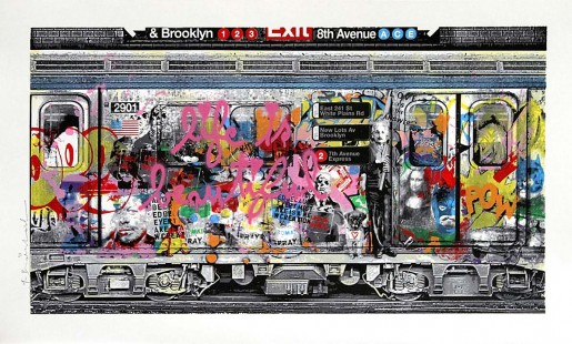 Mr. Brainwash, Chelsea Express Pink, 2016