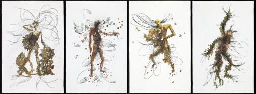 Matthew Ritchie, His Children, Her Garden, His Book, Her Country, 2009