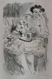 Danseuse à mi-jambes, Main au Menton (Pl. de l'album Dix danseuses)