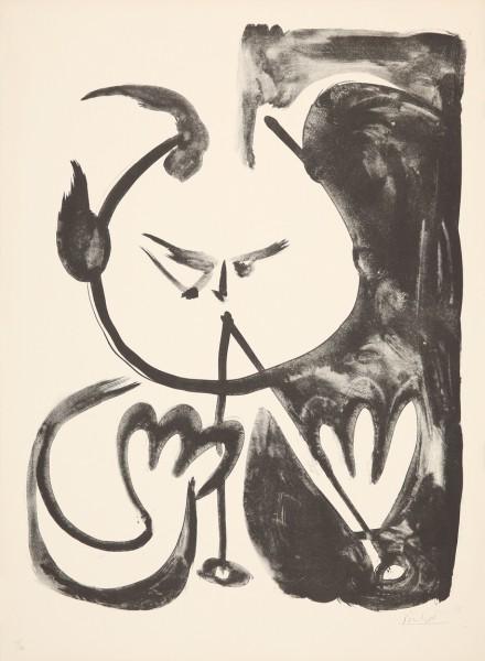 Pablo Picasso, Faune Musicien No. 5, 1948
