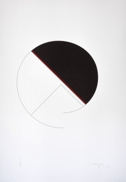 Gottfried Honegger, Cercle/Diagonale, 2014
