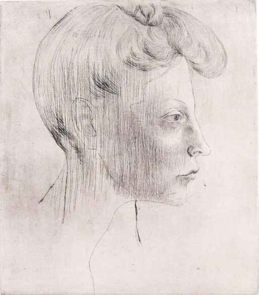 Pablo Picasso, Head of Woman, In Profile / Tête de femme, de profil, 1905