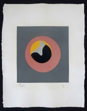 "Untitled, from ""Le Soleil Recerclé"" (Pink Eye in Grey Square)"