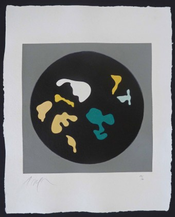 Untitled, from Le Soleil Recerclé (Black Circle Small Shapes) by Hans Arp