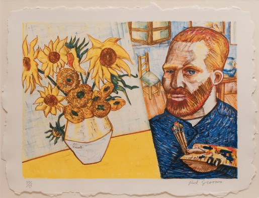 Red Grooms, Van Gogh with Sunflowers, 1988