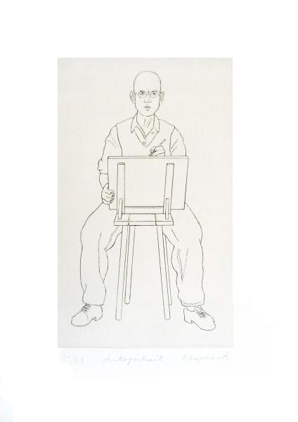 Konrad Klapheck, Autoportrait, 1996