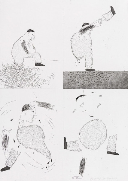 David Hockney, He Tore Himself in Two (Rumpelstilzchen), 1969