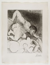 Homme dévoilant une femme (from the Suite Vollard)