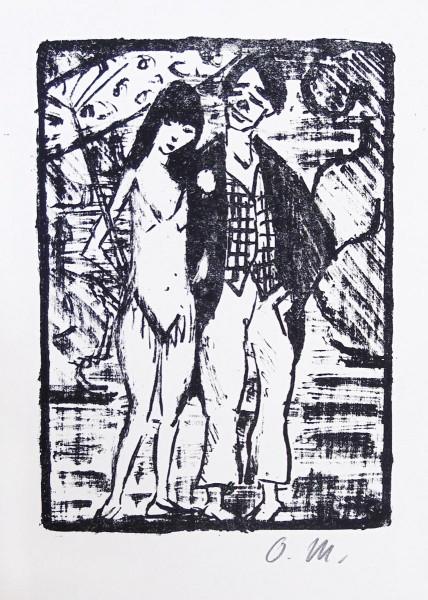 Otto Mueller, Circus Pair (Vaudeville) | Zirkuspaar (Varieté), 1920