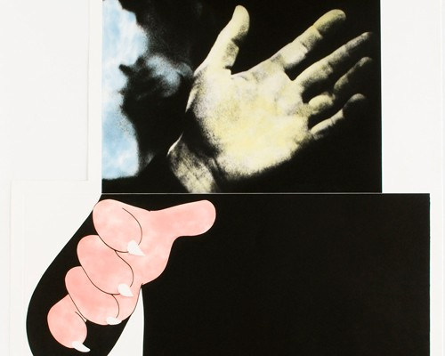 Two Hands (With Distant Figure) by John Baldessari