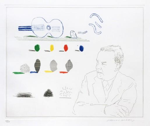"David Hockney, The Poet (from ""The Blue Guitar"" portfolio), 1976-77"