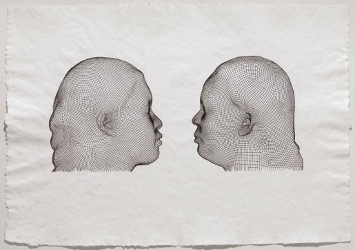 Jaume Plensa, Nuria & Irma (noir), 2012