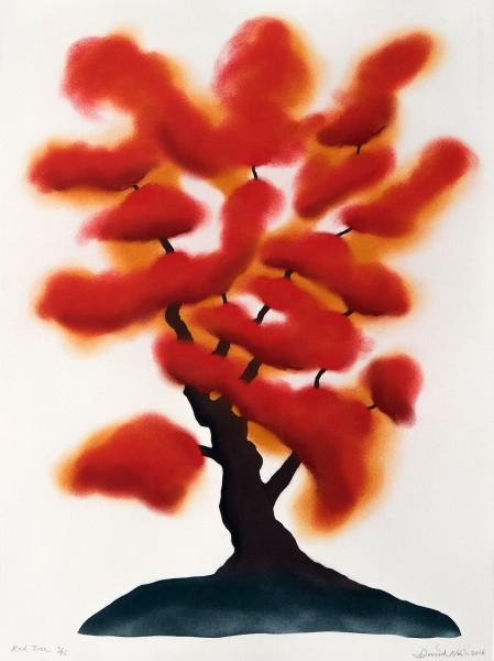 David Nash, Red Tree, 2016