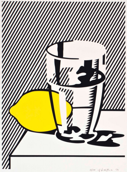 Roy Lichtenstein, Untitled (Still Life with Lemon and Glass) for Meyer Schapiro, 1974