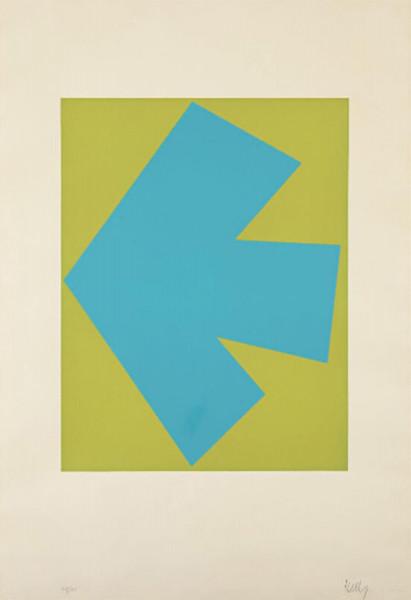 Ellsworth Kelly, Blue Over Green (Bleu sur Vert), from Suite of Twenty-Seven Color Lithographs, 1964-65