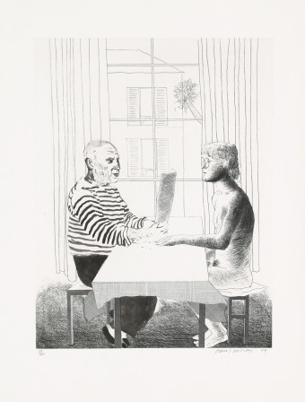 Artist and Model by David Hockney