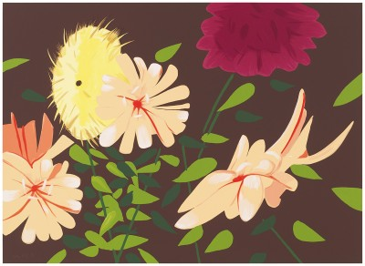 Alex Katz, Late Summer Flowers, 2013