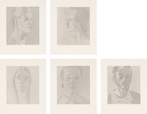 "Alex Katz, From ""Give Me Tomorrow"" (Carter Ratcliff), 1983/84"