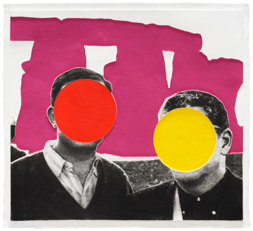 John Baldessari, Stonehenge (With Two Persons) Violet, 2005