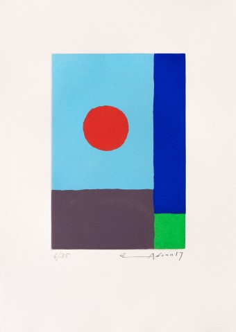 Power of sun by Etel Adnan
