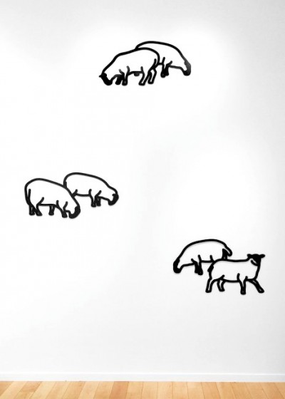 Sheep 1-3, from Nature 1 Series by Julian Opie