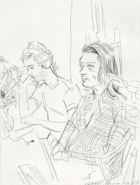 Elizabeth Peyton, Rirkrit & Christian, 2007