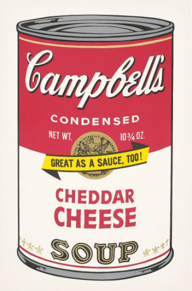 """Andy Warhol, Cheddar Cheese (FS II.63), from the Portfolio """"Campbell's Soup II"""", 1969"""