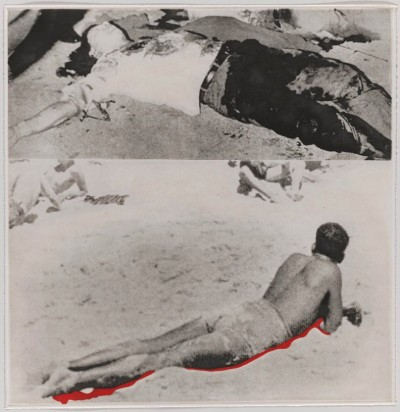 """Two Figures (One with Shadow) from """"Hegel's Cellar"""" Portfolio by John Baldessari"""