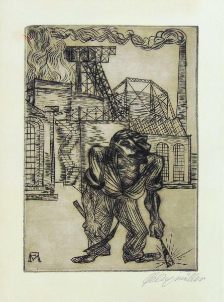 Konrad Felixmüller, Der alte Kohlenarbeiter (The Old Collier), 1921
