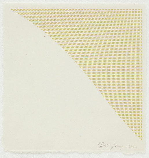 Tess Jaray, Untitled (Yellow Corner), 2010