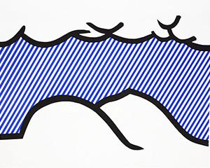 Illustration for 'De Denver au Montana, Départ 27 Mai 1972' (I), from La Nouvelle Chute de lAmérique by Roy Lichtenstein