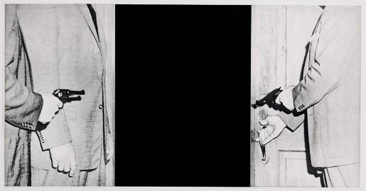 "John Baldessari, Large Door from ""Hegel's Cellar"" Portfolio, 1986"