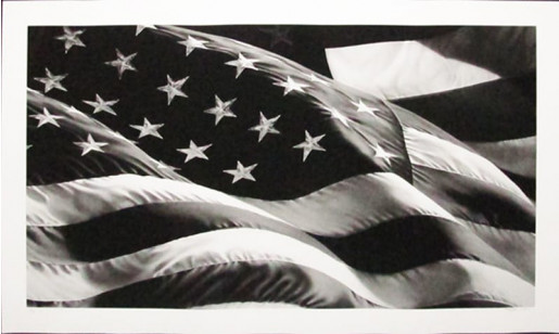 Robert Longo, Untitled (Flag), 2013