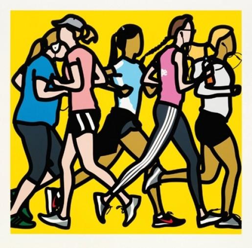 Julian Opie, Runners, 2016