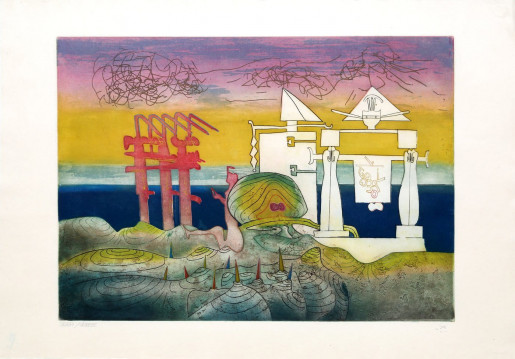 Roberto Matta, 8PM from L'Arc Obscur des Heures, 1975