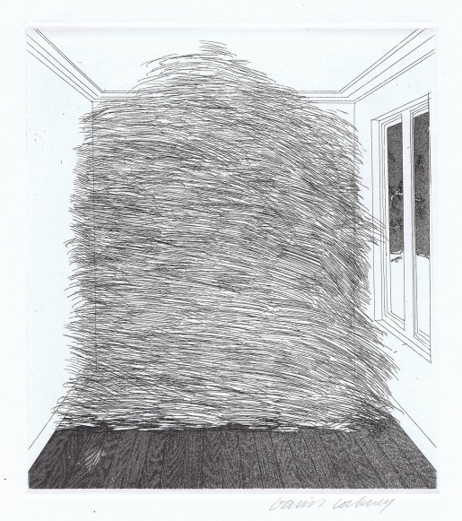 David Hockney, A Room Full of Straw (Rumpelstilzchen), 1969