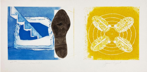 James Rosenquist, Nuclear Neighborhood: Towel, Star, Sunglasses (a pair of works from the Tripartite series), 1977