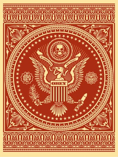 Shepard Fairey-Presidential Seal Red