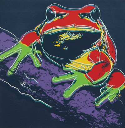 """Andy Warhol - Pine Barrens Tree Frog (FS II.294), from the Portfolio """"Endangered Species"""""""