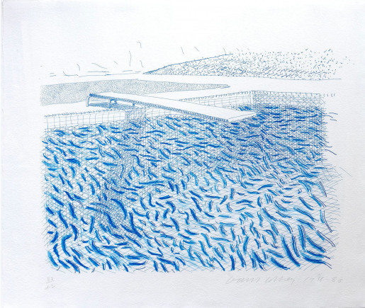 David Hockney, Lithographic Water made of Lines and Crayon, 1978-1980