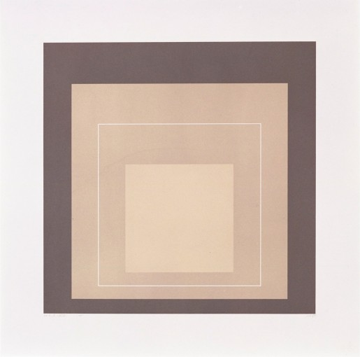 "Josef Albers, White Line Square XIV (from ""White Line Squares"" Series II), 1966"