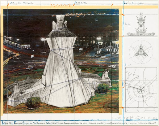 Christo, Wrapped Fountain, 2009