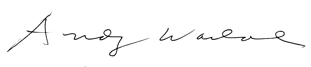 Andy Warhol's signature.