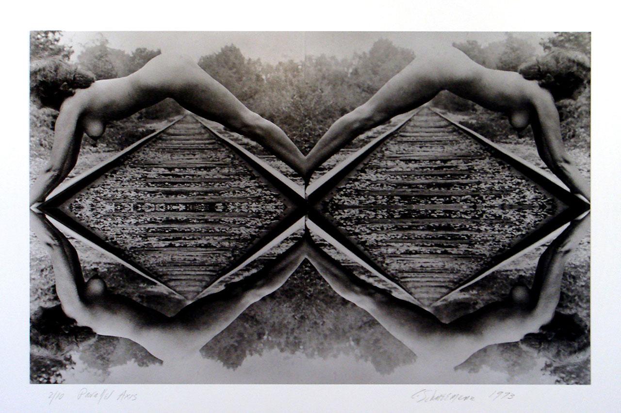 Carolee Schneemann, Parallel Axis, 1973, 4 gelatin silver prints