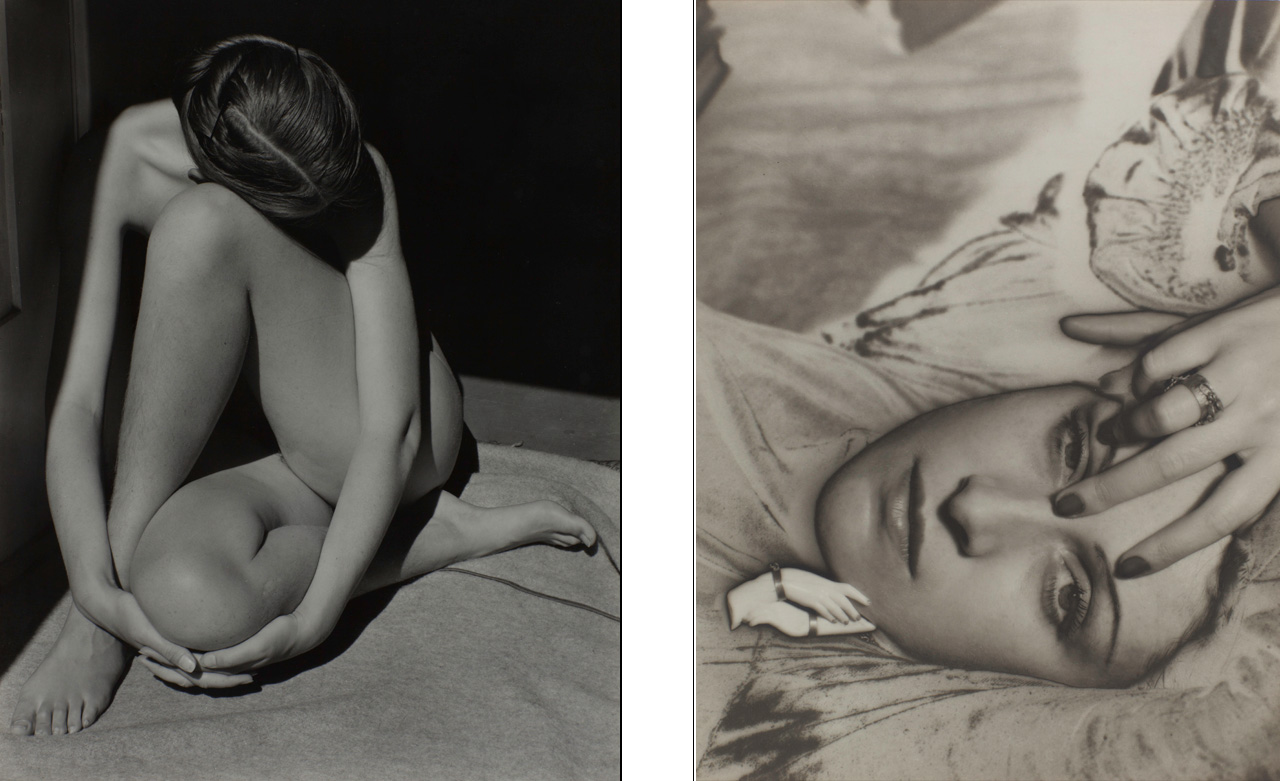 On the left Edward Weston, Nude, 1936 and on the right Man Ray, Dora Maar, 1936