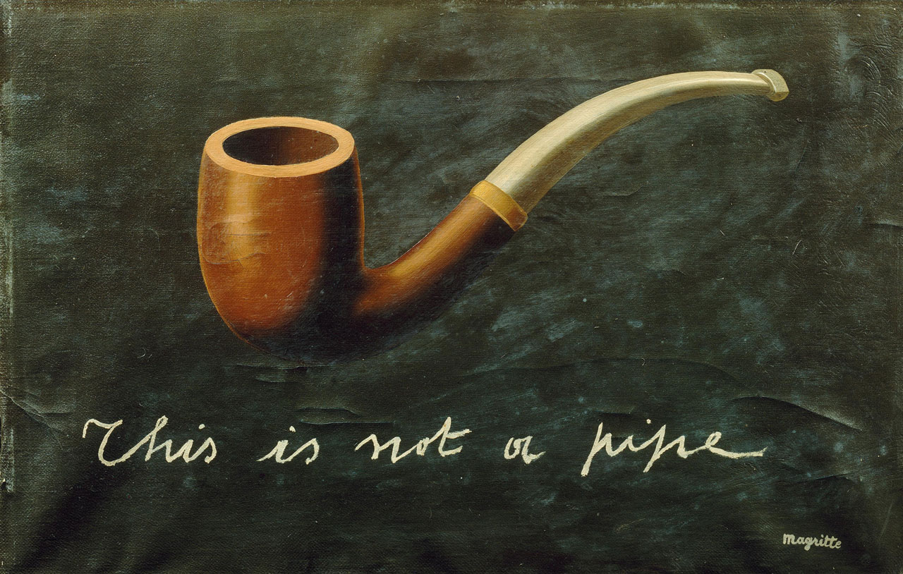 René Magritte, This is not a pipe, 1935, oil on canvas