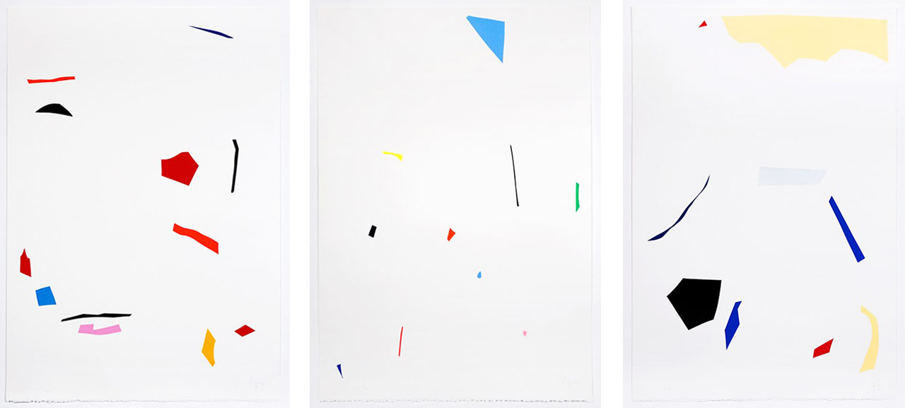 JORDAN/SEYDOUImi Knoebel, Unitled,1, 2 and 3, 1995, Prints
